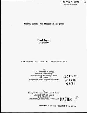 Primary view of object titled 'Jointly Sponsored Research Program. Final report'.