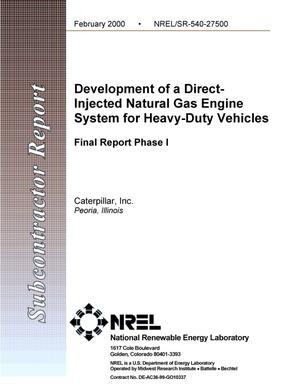 Primary view of object titled 'Development of a direct-injected natural gas engine system for heavy-duty vehicles: Final report phase 1'.