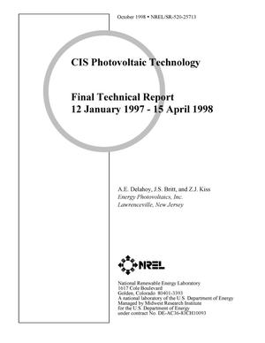 Primary view of object titled 'CIS Photovoltaic Technology; Final Technical Report'.