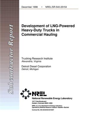 Primary view of object titled 'Development of LNG-Powered Heavy-Duty Trucks in Commercial Hauling'.
