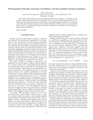 Primary view of object titled 'Self-organized criticality, long-time correlations, and the standard transport paradigm'.