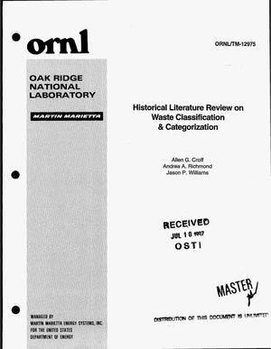 Primary view of object titled 'Historical literature review on waste classification and categorization'.