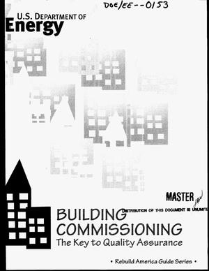 Primary view of object titled 'Building commissioning: The key to quality assurance'.