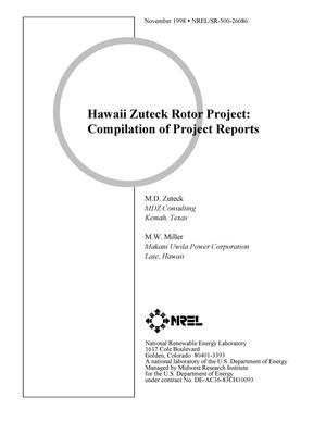 Primary view of object titled 'Hawaii Zuteck Rotor Project: Compilation of project reports'.