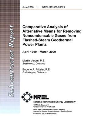 Primary view of object titled 'Comparative analysis of alternative means for removing noncondensable gases from flashed-steam geothermal power plants'.