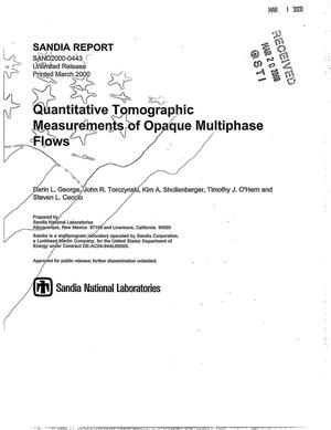 Primary view of object titled 'Quantitative tomographic measurements of opaque multiphase flows'.