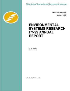 Primary view of object titled 'Environmental Systems Research FY-99 Annual Report'.