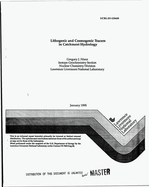 Primary view of object titled 'Lithogenic and cosmogenic tracers in catchment hydrology'.