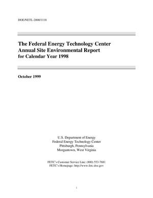 Primary view of object titled 'The Federal Energy Technology Center annual site environmental report for calendar year 1998'.