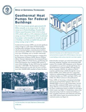 Primary view of object titled 'Geothermal heat pumps for federal buildings'.