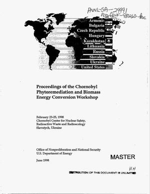 Primary view of object titled 'Proceedings of the Chornobyl phytoremediation and biomass energy conversion workshop'.