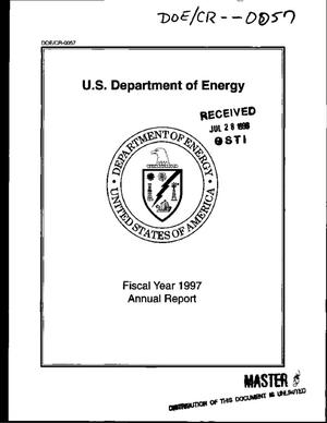 Primary view of object titled 'U.S. Department of Energy fiscal year 1997 annual report'.
