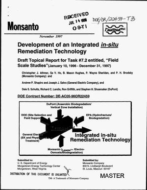 Primary view of object titled 'Development of an integrated in-situ remediation technology. Draft topical report for Task {number_sign}7.2 entitled ``Field scale test`` (January 10, 1996--December 31, 1997)'.