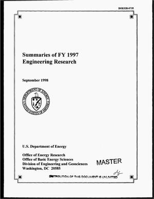Primary view of object titled 'Summaries of FY 1997 engineering research'.