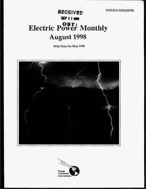 Primary view of object titled 'Electric power monthly, August 1998, with data for May 1998'.