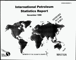 Primary view of object titled 'International petroleum statistics report, November 1998'.
