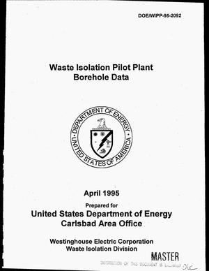 Primary view of object titled 'Waste Isolation Pilot Plant borehole data'.