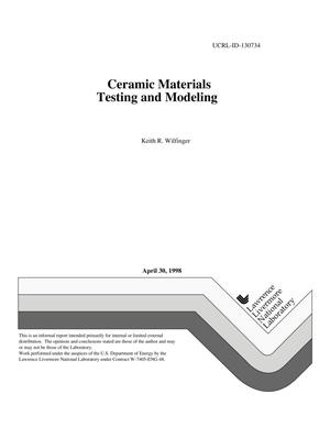 Primary view of object titled 'Ceramic materials testing and modeling'.