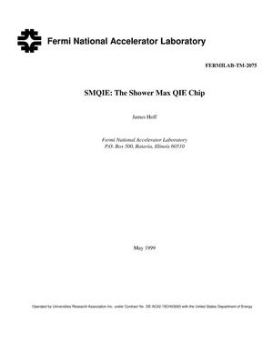 Primary view of object titled 'SMQIE: The shower max QIE chip'.