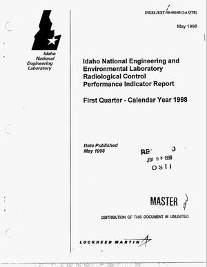 Primary view of object titled 'Idaho National Engineering and Environmental Laboratory radiological control performance indicator report. First quarter -- calendar year 1998'.