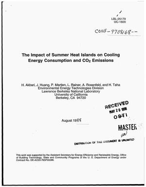Primary view of object titled 'The impact of summer heat islands on cooling energy consumption and CO{sub 2} emissions'.