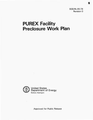 Primary view of object titled 'Plutonium-Uranium Extraction (PUREX) facility preclosure work plan'.