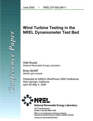 Primary view of object titled 'Wind turbine testing in the NREL dynamometer test bed'.