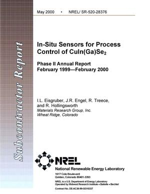 Primary view of object titled 'In-situ sensors for process control of CuIn(Ga)Se{sub 2}: Phase 2 Annual Report, February 1999 - February 2000'.