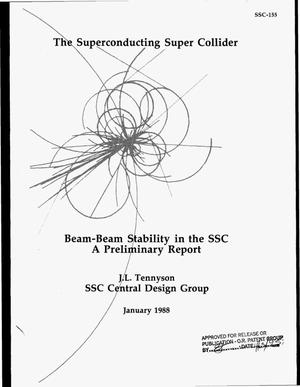 Primary view of object titled 'Beam-beam stability in the SSC. A preliminary report'.