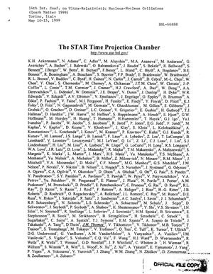 Primary view of object titled 'The STAR Time Project Chamber'.