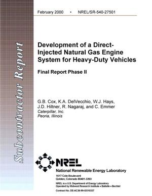 Primary view of object titled 'Development of a direct-injected natural gas engine system for heavy-duty vehicles: Final report phase 2'.