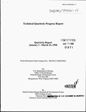 Primary view of object titled 'Advanced gas turbine systems research. Technical quarterly progress report, January 1--March 31, 1998'.