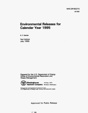 Primary view of object titled 'Environmental releases for calendar year 1995'.