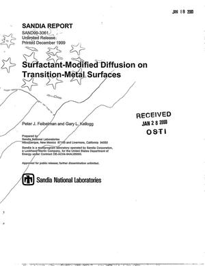 Primary view of object titled 'Surfactant-Modified Diffusion on Transition-Metal Surfaces'.