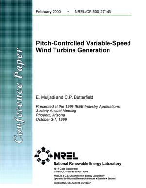 Primary view of object titled 'Pitch-controlled variable-speed wind turbine generation'.