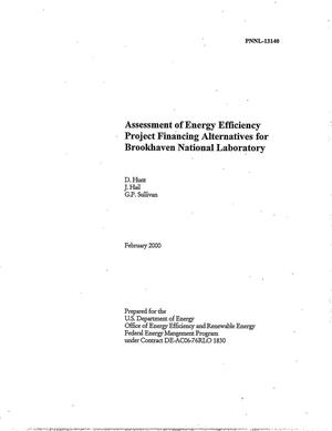 Primary view of object titled 'Assessment of energy efficiency project financing alternatives for Brookhaven National Laboratory'.