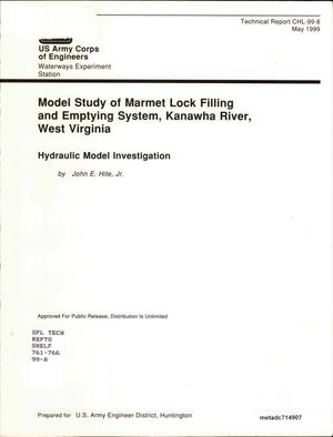 Primary view of object titled 'Model Study of Marmet Lock Filling and Emptying System, Kanawha River, West Virginia: Hydraulic Model Investigation'.