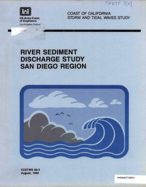 Primary view of object titled 'River Sediment Discharge Study, San Diego Region'.
