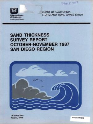 Primary view of object titled 'Sand Thickness Survey Report, October - November, 1987, San Diego Region'.
