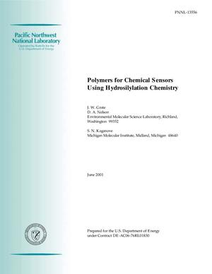 Primary view of object titled 'Polymers for Chemical Sensors Using Hydrosilylation Chemistry'.