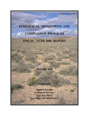 Primary view of object titled 'Ecological Monitoring and Compliance Program Fiscal Year 2000 Report'.