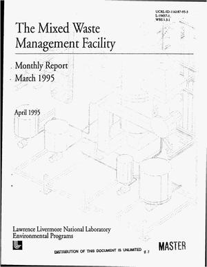 Primary view of object titled 'The Mixed Waste Management Facility monthly report, March 1995'.