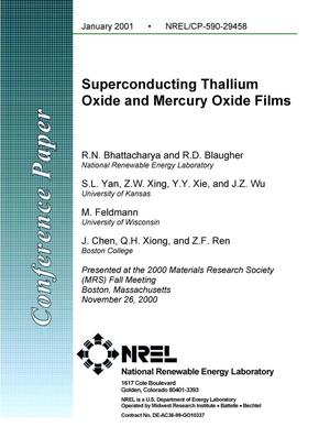 Primary view of object titled 'Superconducting Thallium Oxide and Mercury Oxide Film'.
