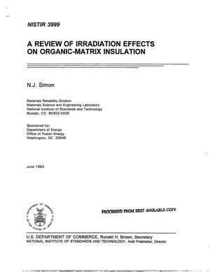 Primary view of object titled 'A Review of Irradiation Effects on Organic-Matrix Insulation'.