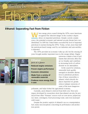Primary view of object titled 'Biofuels: Ethanol - Separating Fact from Fiction'.