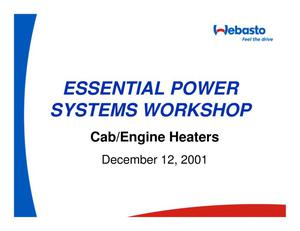 Primary view of object titled 'Essential Power Systems Workshop - Cab/Engine Heaters'.