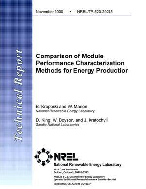 Primary view of object titled 'Comparison of Module Performance Characterization Methods for Energy Production'.