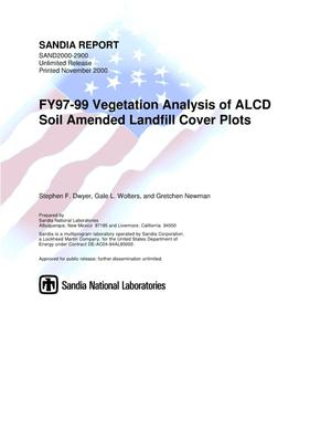 Primary view of object titled 'FY97-99 Vegetation Analysis of ALCD Soil Amended Landfill Cover Plots'.