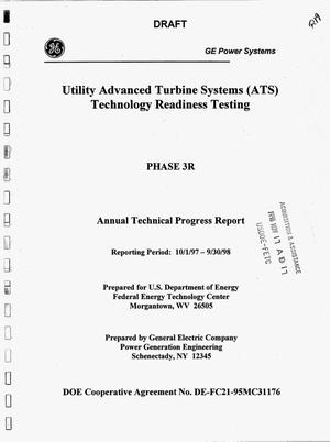 Primary view of object titled 'UTILITY ADVANCED TURBINE SYSTEMS (ATS) TECHNOLOGY READINESS TESTING'.