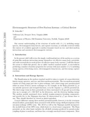 Primary view of object titled 'Electromagnetic Structure of Few-Nucleon Systems: a Critical Review'.